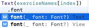 Xcode's auto-suggestions for methods