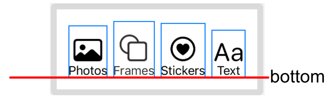 Bottom aligned buttons