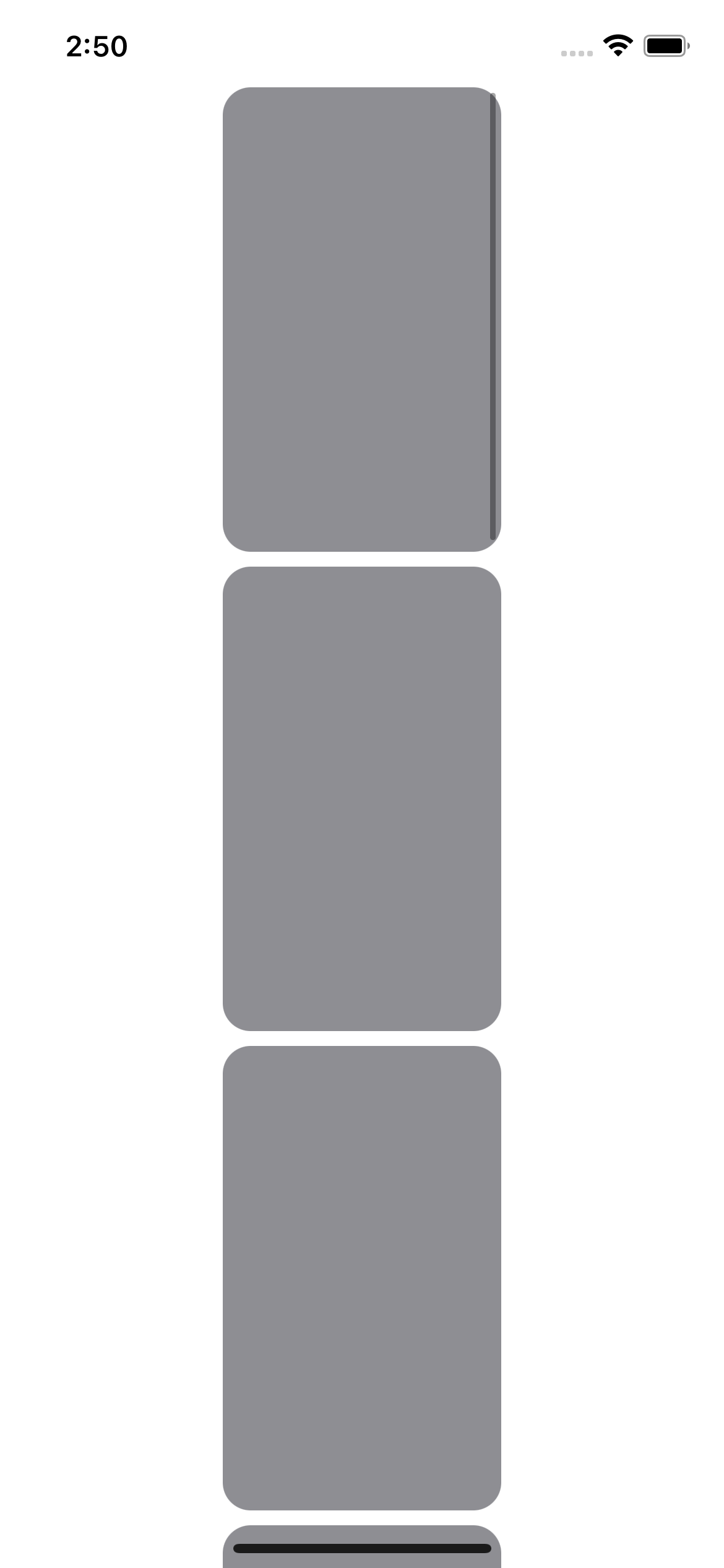 Placeholder thumbnails
