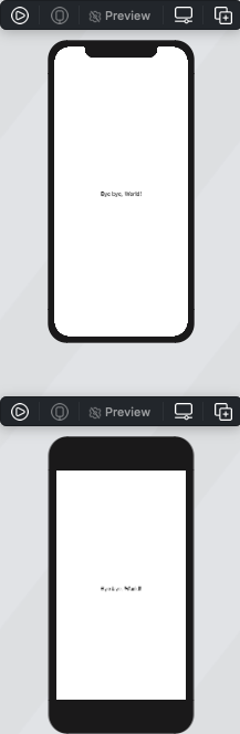 Preview of two devices