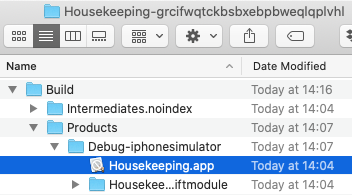 Open Build folder.