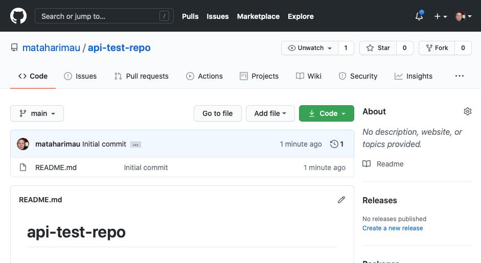 GitHub: New repository created