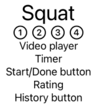 Exercise view with Header view