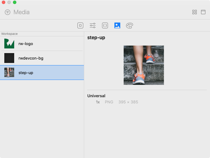 Add image from canvas library.