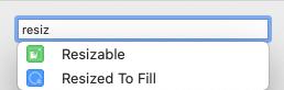 Select Resizable modifier.