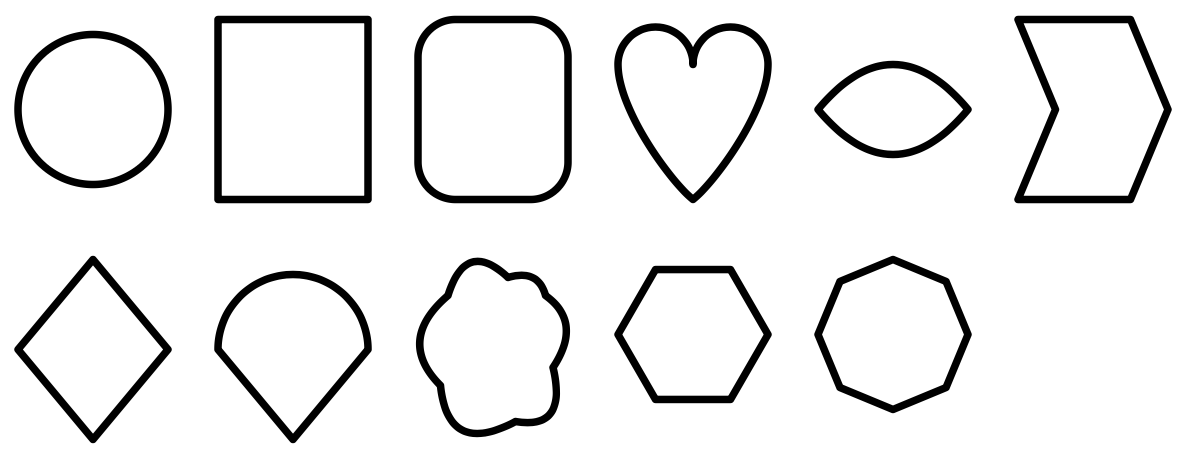 Try these shapes