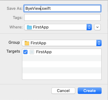 SwiftUI view file name matches the new SwiftUI View.