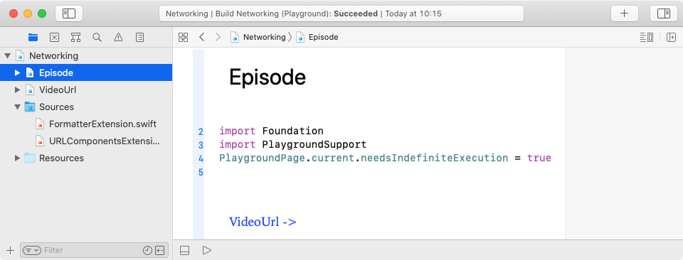 Open Episode playground page.