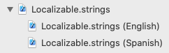 Localizable.strings group