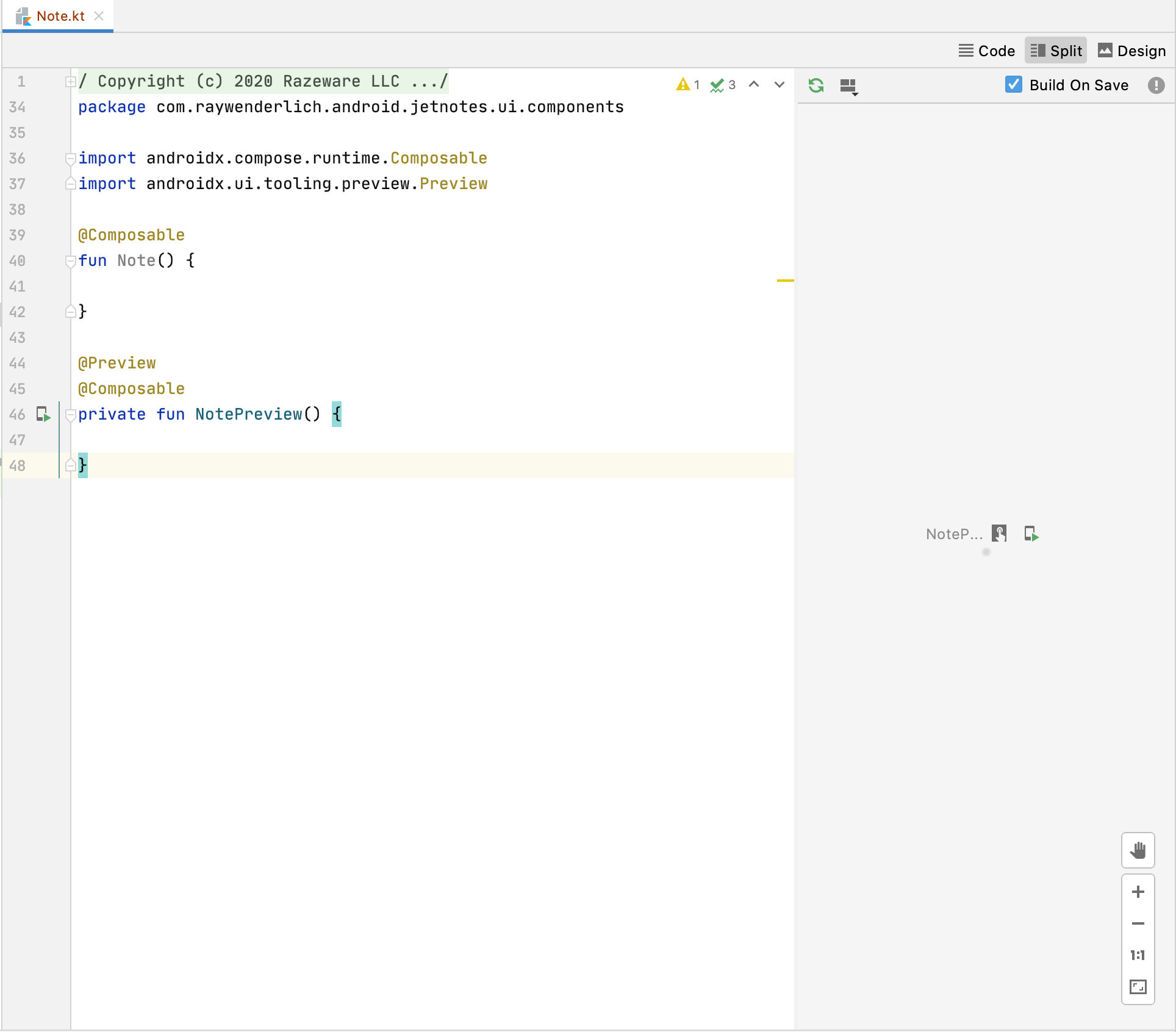 Android Studio - Preview