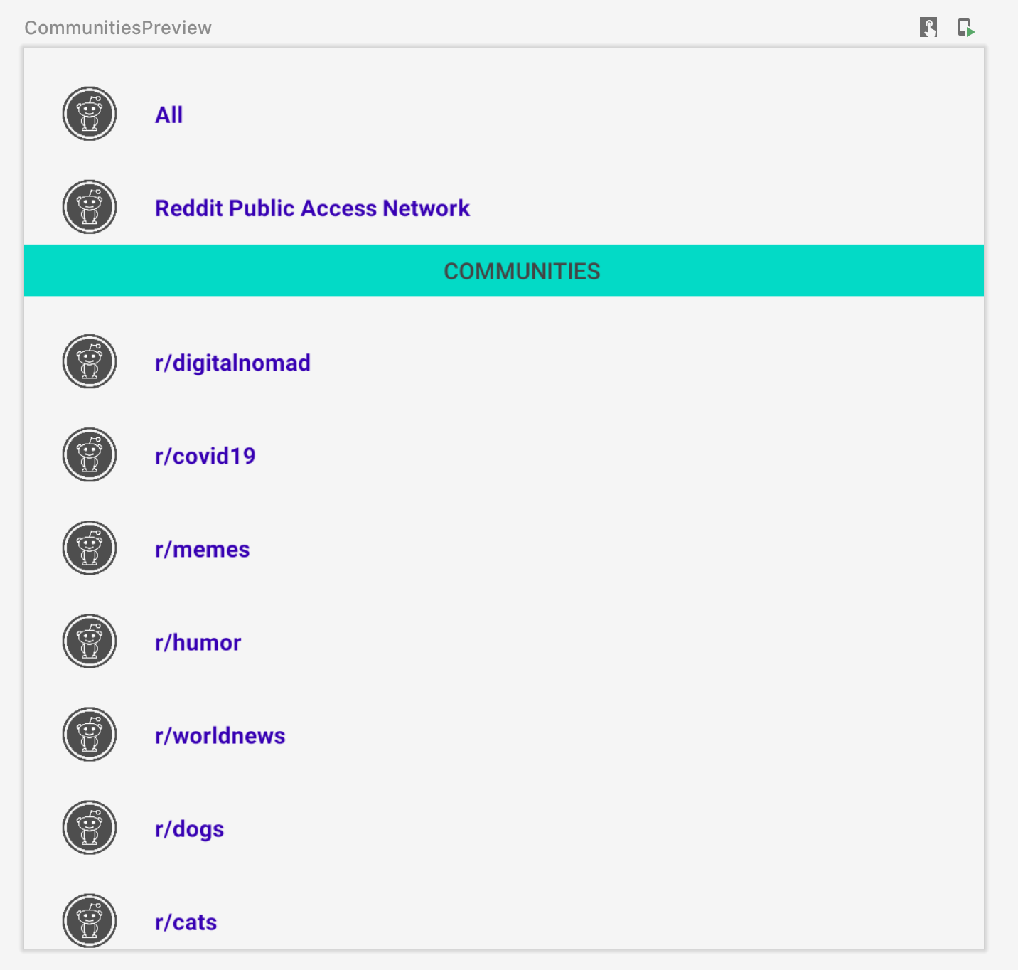 Communities Preview
