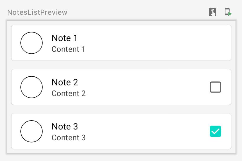 NotesList Composable — Preview