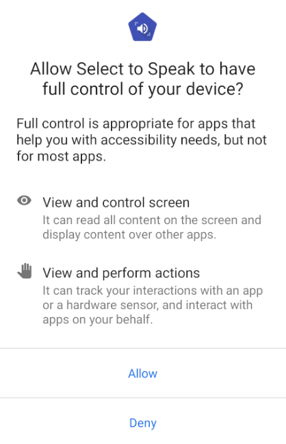 Accessibility permissions dialog.
