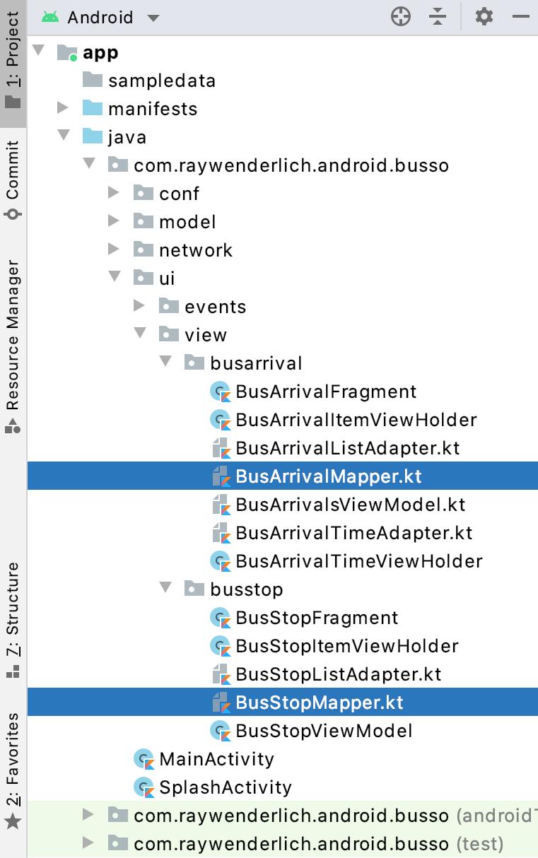 Figure 2.17 — The Mapper classes