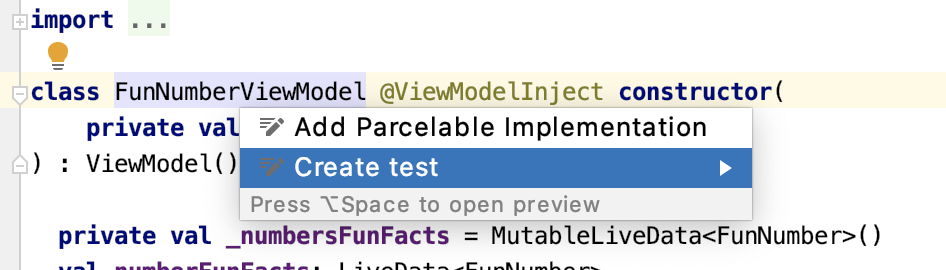 Figure 19.8 — Create a test for FunNumberViewModel