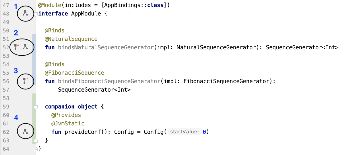 Figure 9.5 — Android Studio support for Dagger