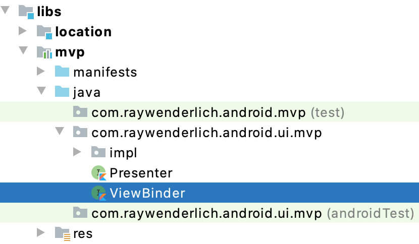 Figure 5.4 — The ViewBinder abstraction in the Busso Project