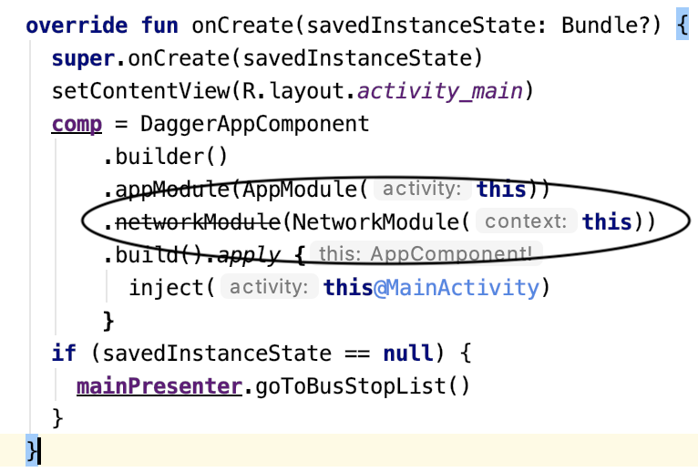 Figure 10.6 — A deprecated @Module