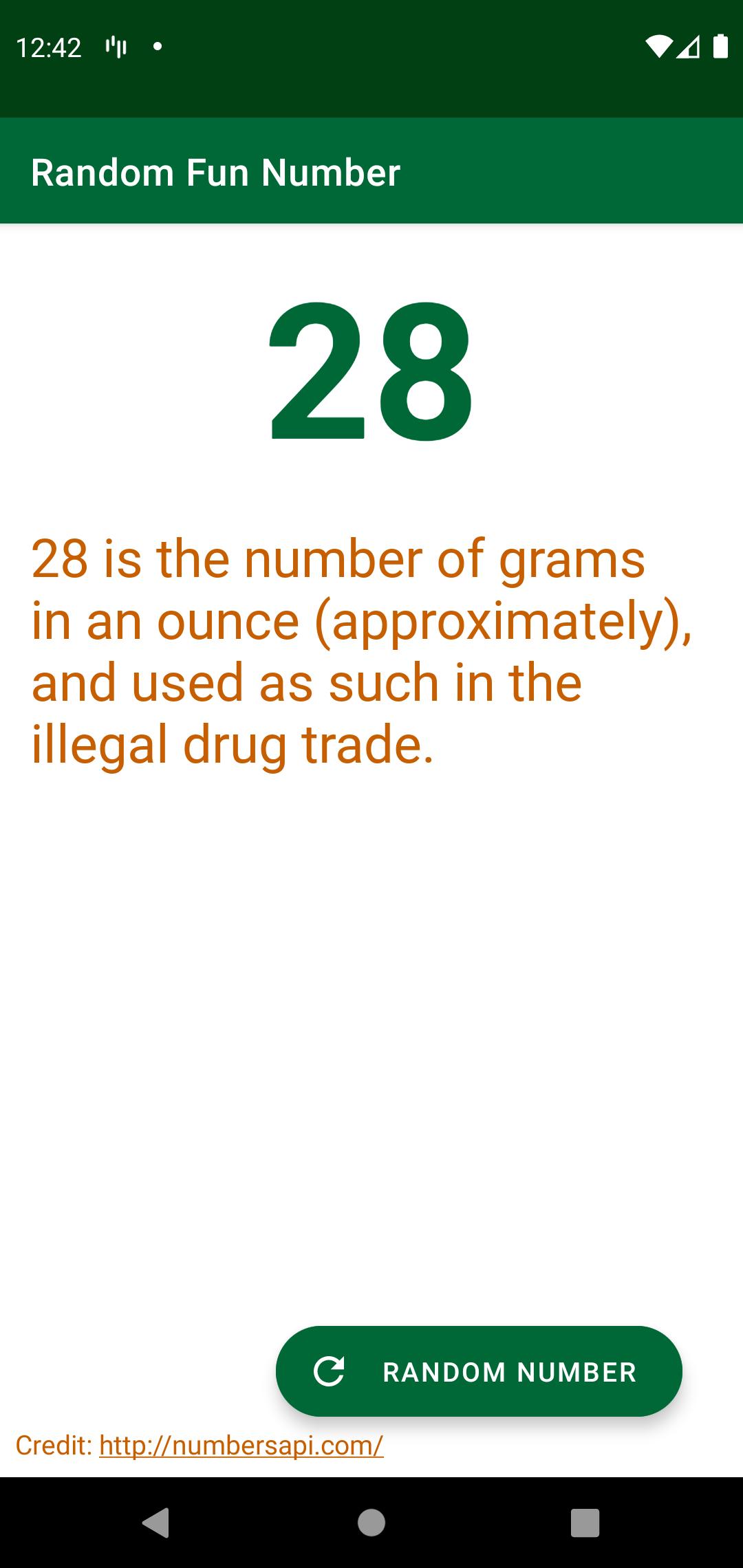 Figure 21.2 — The RandomFunNumber app