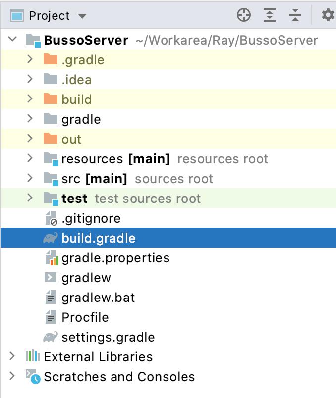 Figure 20.5 — Gradle file for BussoServer