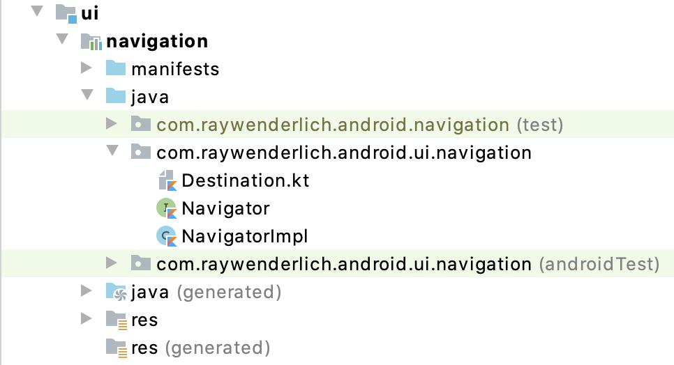 Figure 15.3 — The Navigation module source files