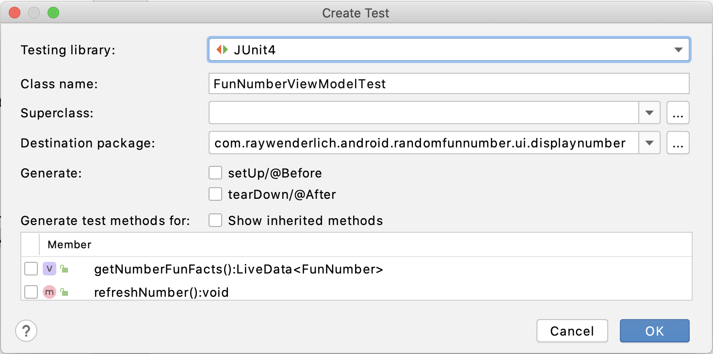 Figure 19.9 — Select the JUnit 4 option