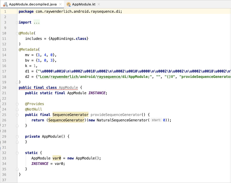 Figure 8_5 — Kotlin code decompiled into Java code