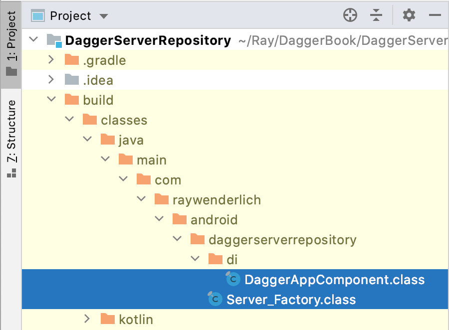 Figure 6.9 — Dagger-generated code