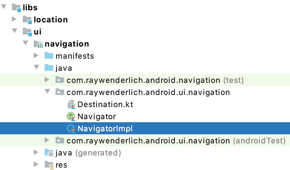 Figure 2.13 — The NavigatorImpl class