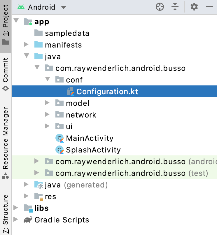 Figure 2.5 — Busso Android File Structure