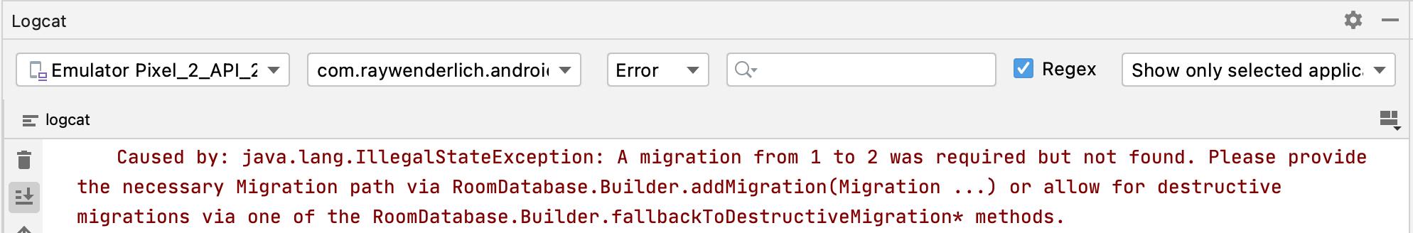 The App Crash error.