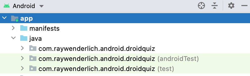 The androidTest package.