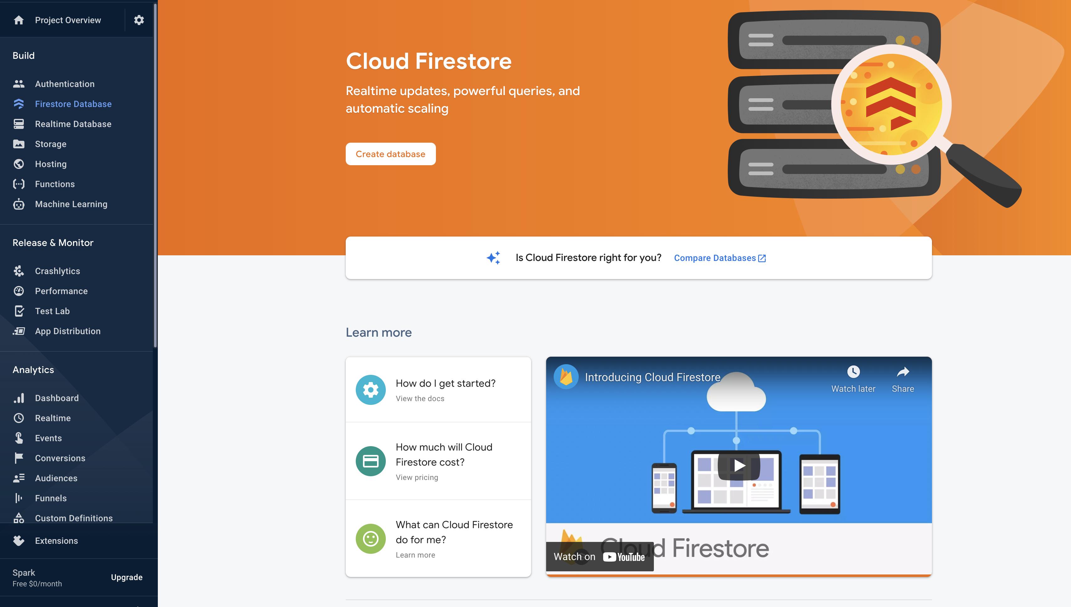 Firestore Landing Page