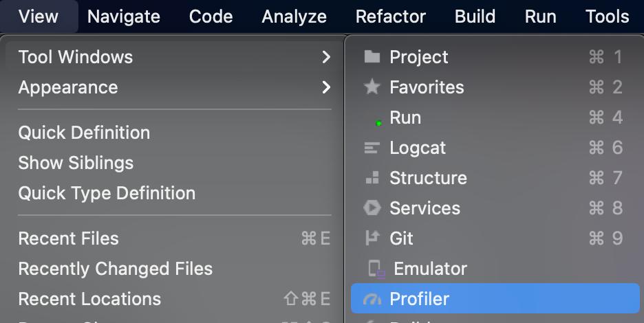Figure 21.6 — Android Studio Profiler