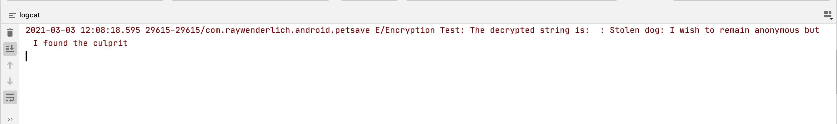 Figure 16.6 — Encryption Test