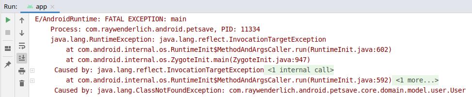 Figure 20.5 — Crash at Runtime
