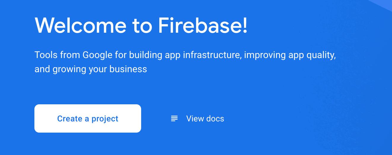 Figure 19.1 — Creating a Firebase Project