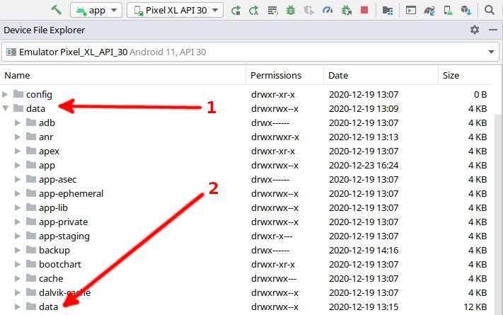 Figure 22.2 — Locate the Data Folders