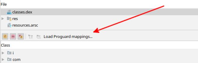 Figure 22.13 — Loading the Proguard Mapping File