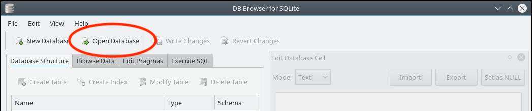 Figure 22.3 — SQL Browser