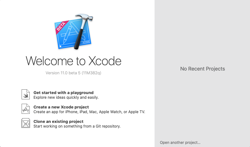 Xcode bids you welcome