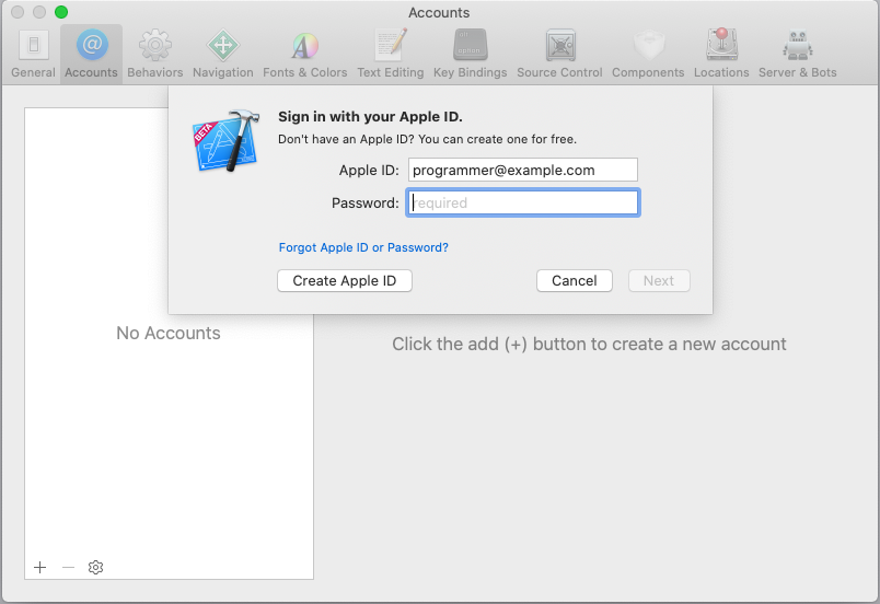 Entering your Apple ID password