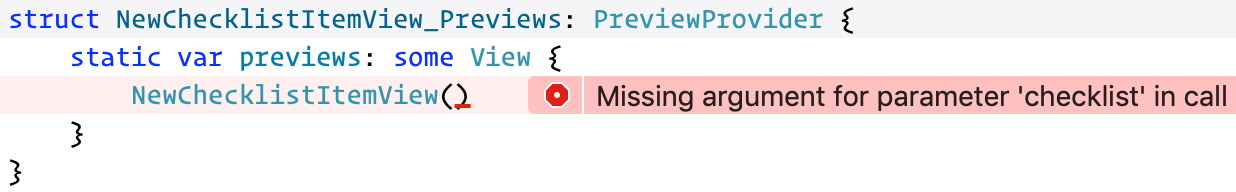 A new error message appears