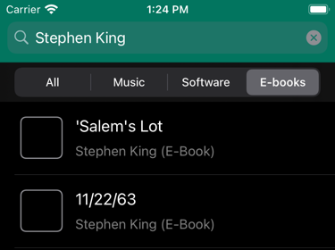 You can now limit the search to just e-books