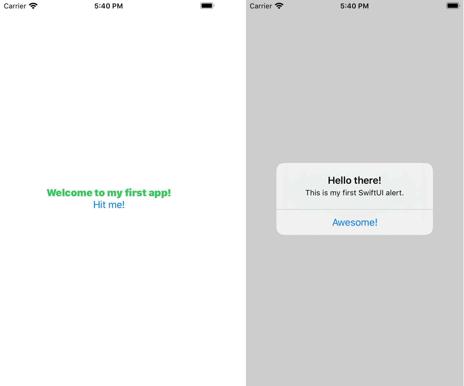 The one-button app in SwiftUI