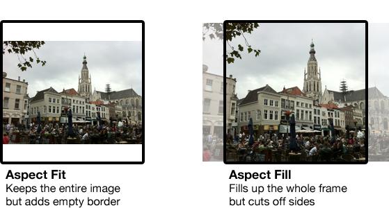 Aspect Fit vs. Aspect Fill