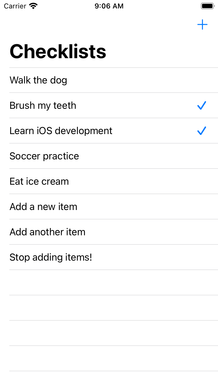 You can finally add new items to the to-do list