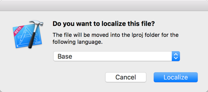 Xcode asks whether it's OK to move the file