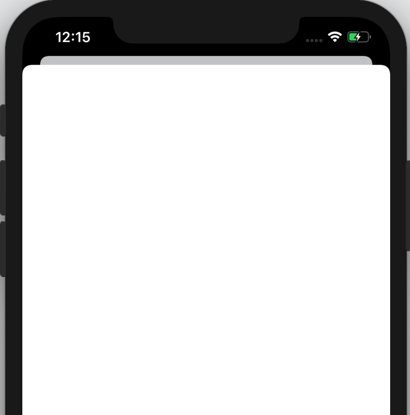 The app, displaying a sheet that says 'New item screen coming soon!'