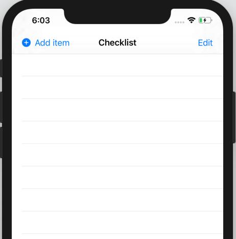 An empty checklist